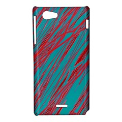 Red and blue pattern Sony Xperia J