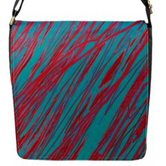 Red and blue pattern Flap Messenger Bag (S)
