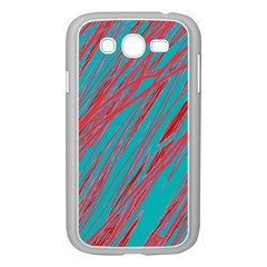 Red and blue pattern Samsung Galaxy Grand DUOS I9082 Case (White)