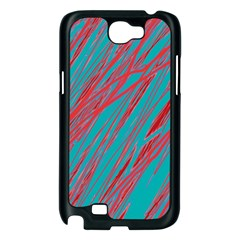 Red and blue pattern Samsung Galaxy Note 2 Case (Black)