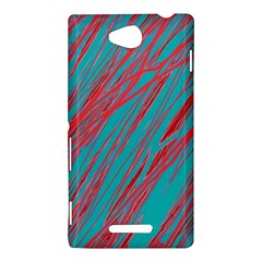 Red and blue pattern Sony Xperia C (S39H)