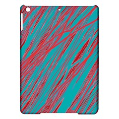 Red and blue pattern iPad Air Hardshell Cases