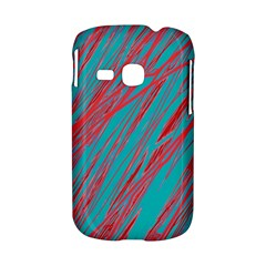 Red and blue pattern Samsung Galaxy S6310 Hardshell Case