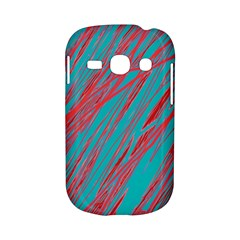 Red and blue pattern Samsung Galaxy S6810 Hardshell Case