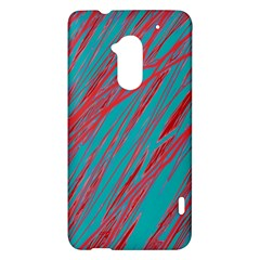 Red and blue pattern HTC One Max (T6) Hardshell Case