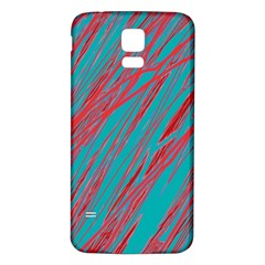Red and blue pattern Samsung Galaxy S5 Back Case (White)