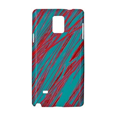 Red and blue pattern Samsung Galaxy Note 4 Hardshell Case
