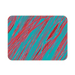 Red and blue pattern Double Sided Flano Blanket (Mini)