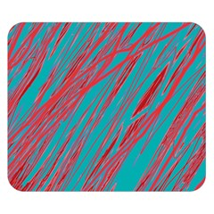 Red and blue pattern Double Sided Flano Blanket (Small)