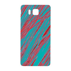Red and blue pattern Samsung Galaxy Alpha Hardshell Back Case