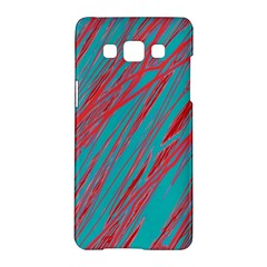 Red and blue pattern Samsung Galaxy A5 Hardshell Case