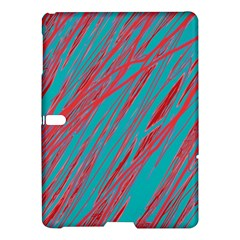Red and blue pattern Samsung Galaxy Tab S (10.5 ) Hardshell Case
