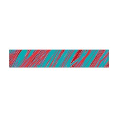 Red And Blue Pattern Flano Scarf (mini)