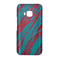 Red and blue pattern HTC One M9 Hardshell Case