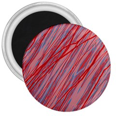 Pink and red decorative pattern 3  Magnets