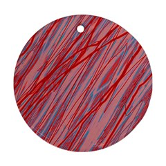 Pink and red decorative pattern Ornament (Round)
