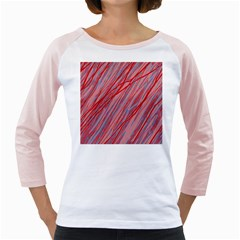 Pink and red decorative pattern Girly Raglans