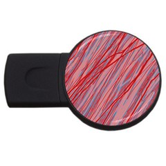 Pink and red decorative pattern USB Flash Drive Round (1 GB)