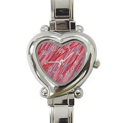 Pink and red decorative pattern Heart Italian Charm Watch