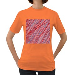 Pink and red decorative pattern Women s Dark T-Shirt