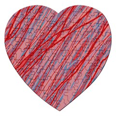 Pink and red decorative pattern Jigsaw Puzzle (Heart)