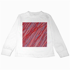 Pink and red decorative pattern Kids Long Sleeve T-Shirts