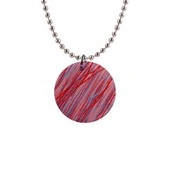 Pink and red decorative pattern Button Necklaces