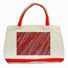 Pink and red decorative pattern Classic Tote Bag (Red)