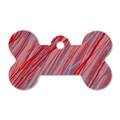 Pink and red decorative pattern Dog Tag Bone (Two Sides)