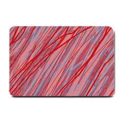 Pink and red decorative pattern Small Doormat