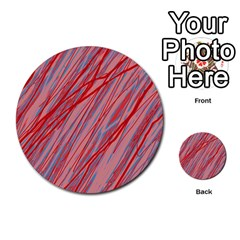 Pink and red decorative pattern Multi-purpose Cards (Round)