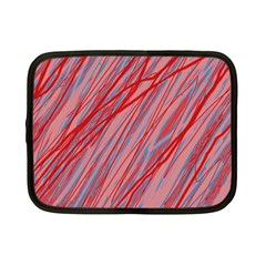 Pink and red decorative pattern Netbook Case (Small)