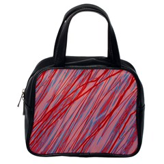 Pink and red decorative pattern Classic Handbags (One Side)