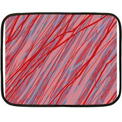 Pink and red decorative pattern Fleece Blanket (Mini)