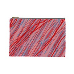 Pink and red decorative pattern Cosmetic Bag (Large)