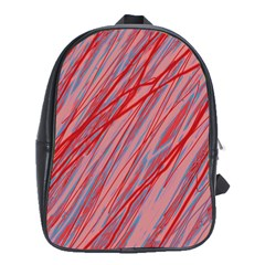 Pink and red decorative pattern School Bags(Large)