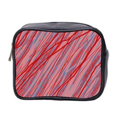 Pink and red decorative pattern Mini Toiletries Bag 2-Side