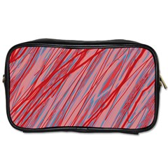Pink and red decorative pattern Toiletries Bags