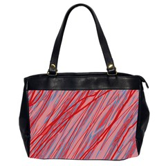 Pink and red decorative pattern Office Handbags (2 Sides)