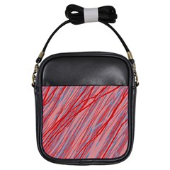 Pink and red decorative pattern Girls Sling Bags