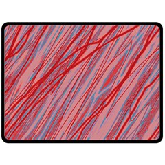 Pink and red decorative pattern Fleece Blanket (Large)
