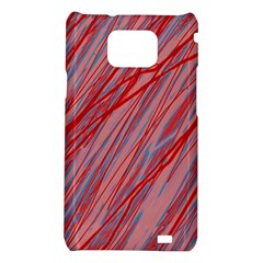 Pink and red decorative pattern Samsung Galaxy S2 i9100 Hardshell Case
