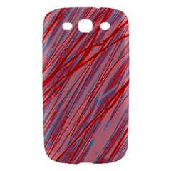Pink and red decorative pattern Samsung Galaxy S III Hardshell Case
