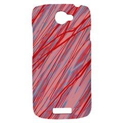 Pink and red decorative pattern HTC One S Hardshell Case