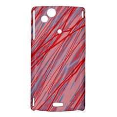 Pink and red decorative pattern Sony Xperia Arc