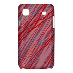 Pink and red decorative pattern Samsung Galaxy SL i9003 Hardshell Case