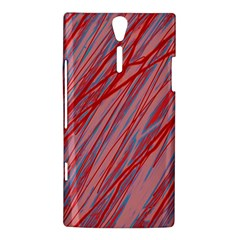 Pink and red decorative pattern Sony Xperia S