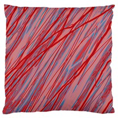 Pink and red decorative pattern Large Cushion Case (Two Sides)