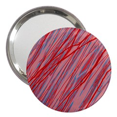 Pink and red decorative pattern 3  Handbag Mirrors