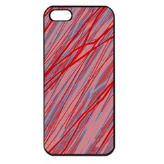 Pink and red decorative pattern Apple iPhone 5 Seamless Case (Black)